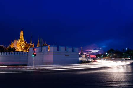 Golden temple at night, Bangkok photo