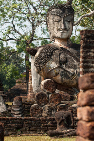 The Buddha in temple , Kamphaeng Phet