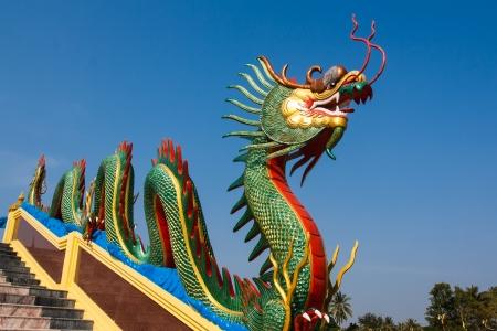 stoma: Dragon scultura elegante, Ang Thong Archivio Fotografico