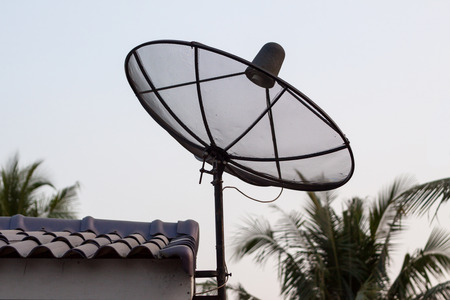 Contract via satellite dish for rural areas photo