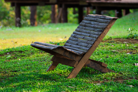 Bench in a garden for relaxing photo