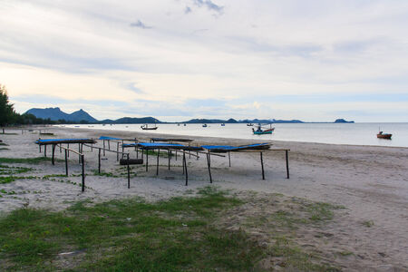 Evening beach , Prachuap Khiri Khan, Thailand photo