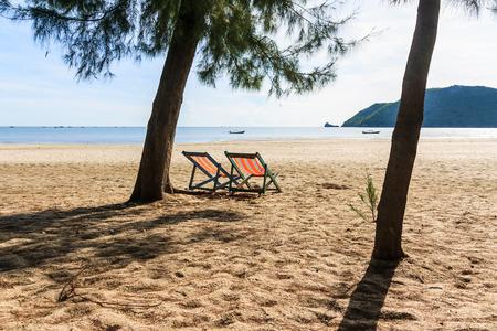 Chair at the beachside , Prachuap Khiri Khan, Thailand photo