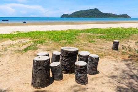 relent: Chair at the beachside , Prachuap Khiri Khan, Thailand