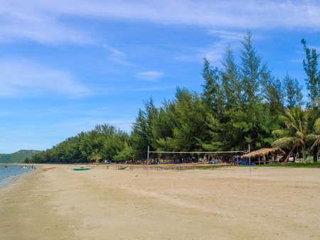 khan: Beach volleyball court  , Prachuap Khiri Khan, Thailand Stock Photo