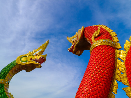 an obeisance: Nagas the statue were fighting