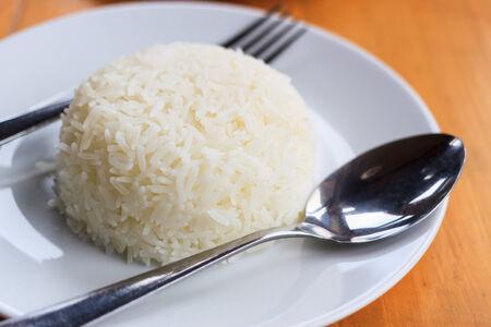 sorted: Jasmine Rice Seed Sorted beautiful plate Stock Photo