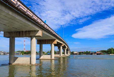cornerstone: Cement bridge across the river