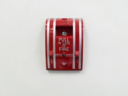 fire department: Switch Fire alarm in buildings Stock Photo