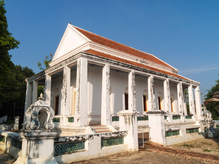 ratchaburi: Old temple in the Thailand Stock Photo