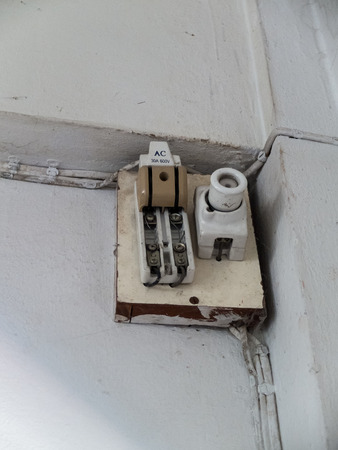 circuit breaker old In the home photo
