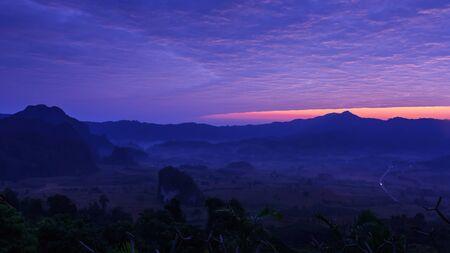 lang: morning in Phu Lang Ka of Thailand
