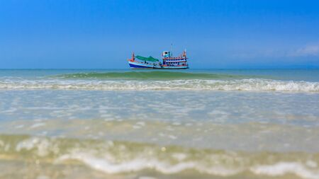 fishing boat in the sea photo