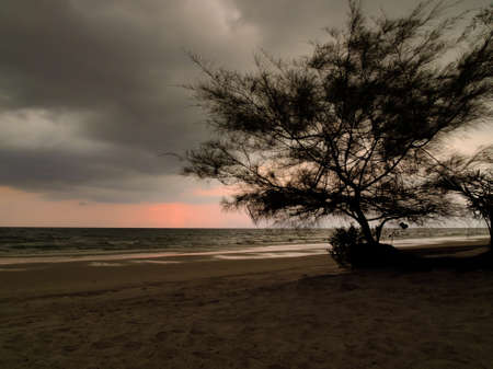 trad: Sunset Beach in Trad Province of Thailand