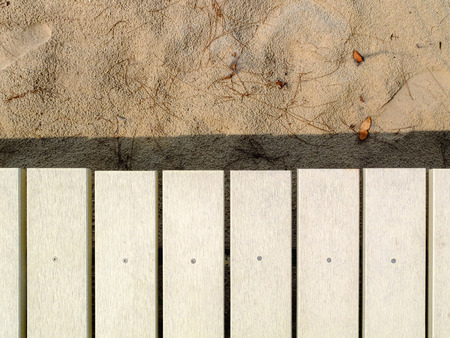 Background of Wooden walkway White photo