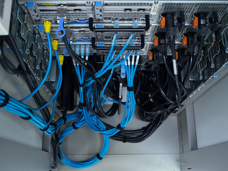 internet servers: LAN cable use server of factory