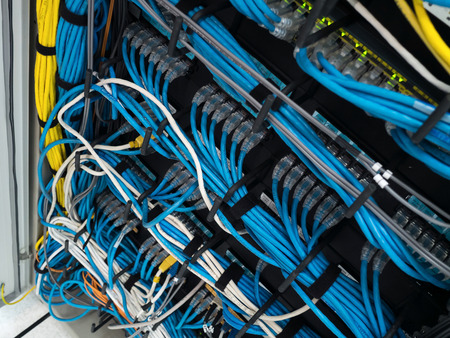 LAN cable use server of factory