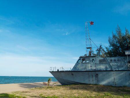 discard: Old Ship On the beach