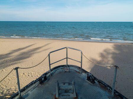 khan: The Beach in Prachuap Khiri Khan Province of Thailand Stock Photo