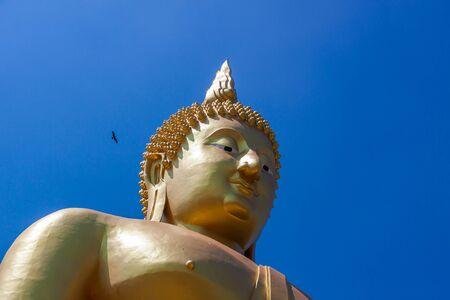 ang thong: Golden Buddha in Ang Thong Province of Thailand