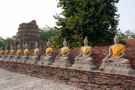 buddha statue: Buddha statue in Ayutthaya Province of Thailand