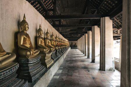 buddha statue: Golden Buddha statue , in Ayutthaya Province Stock Photo