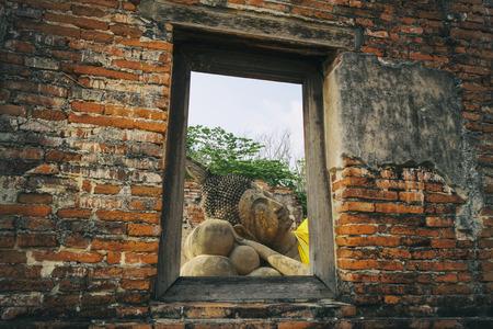 buddha statue: Buddha statue , in Ayutthaya Province