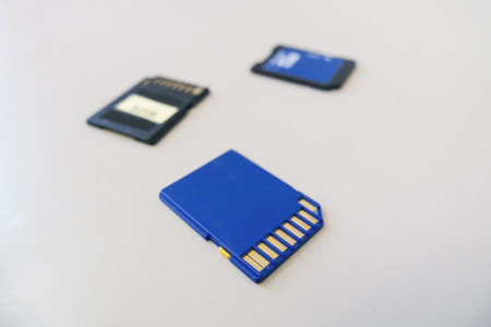 card file: Memory card for digital file Save Stock Photo