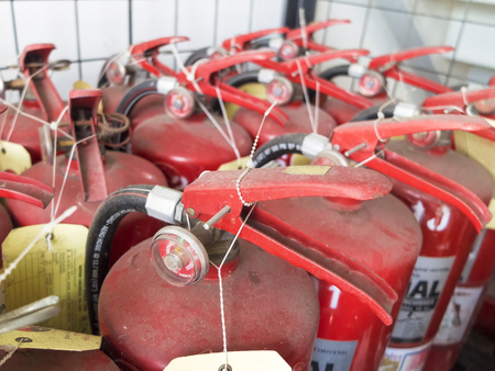 extinguishers: Fire extinguisher for use in factories Stock Photo