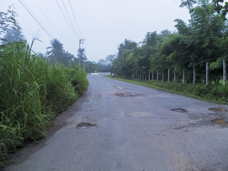 Roads in the countryside of Kanchanaburi Province 스톡 콘텐츠