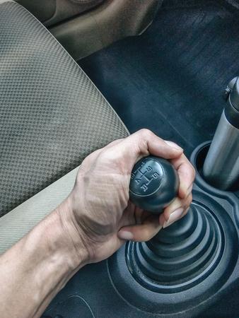 Gear shift Manual Type of cars 版權商用圖片 - 117562389