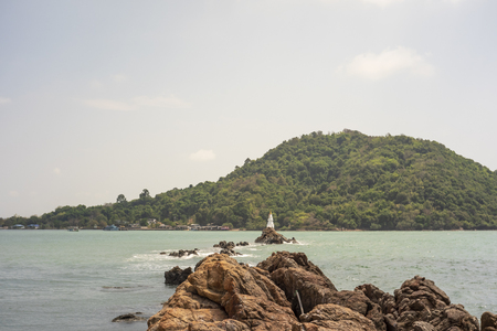 White Pagoda in Chanthaburi Province of Thailand