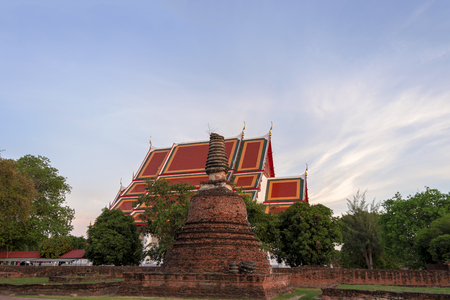 Temple in Ayutthaya Province of Thailand