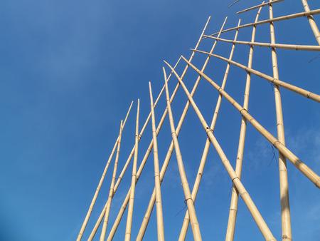 Background image of Bamboo fence Banco de Imagens