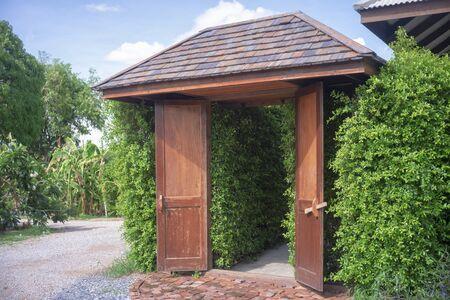 Old wooden door of Thailand