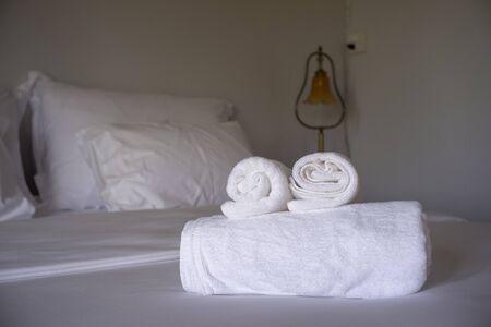 White mattress in the hotel