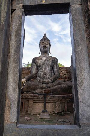 Buddha image in Sukhothai province of thailand