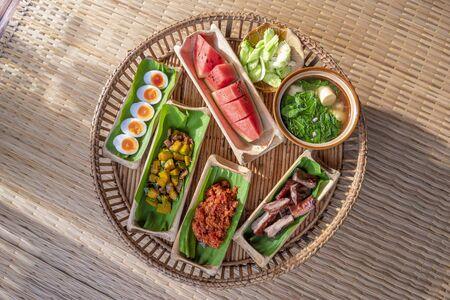 Breakfast of Northern in Thailand Banco de Imagens