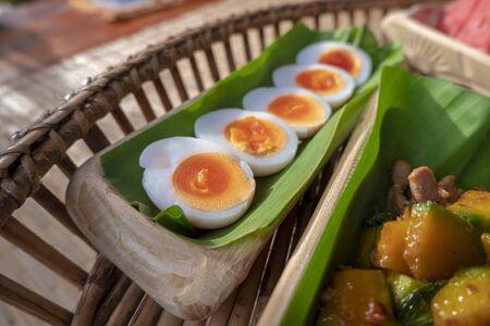 boiled egg , Food has health benefits Banco de Imagens