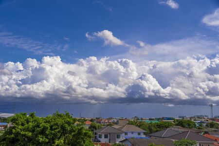 Clouds in the rainy season