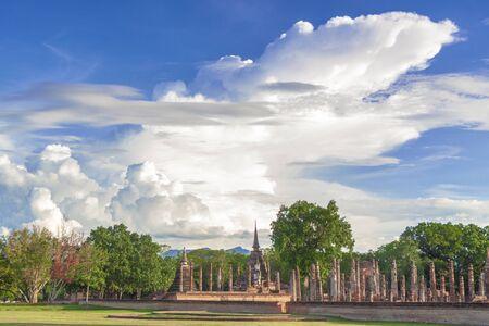 Temple in Sukhothai province of thailand Banco de Imagens