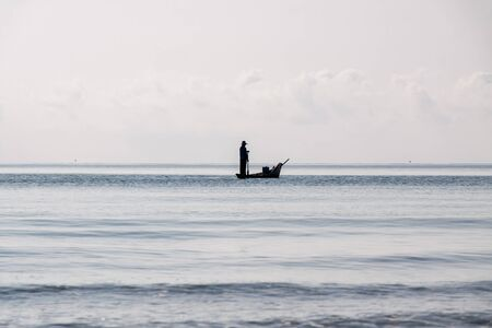 Fisherman  on the sea of Thailand
