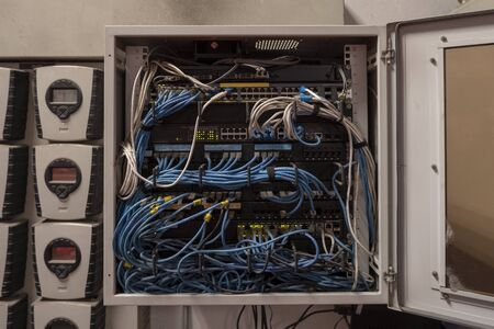 The LAN cable use server of factory 版權商用圖片