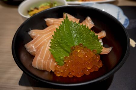 Salmon rice , Good food is useful
