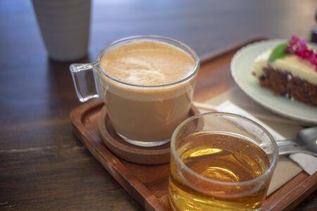 Close up white coffee cup 版權商用圖片