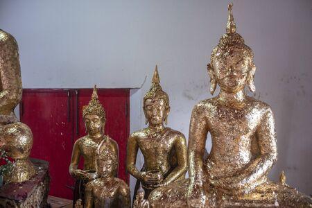 The Buddha statue in Nonthaburi Province of Thailand 版權商用圖片