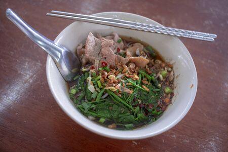 The Spicy noodles , Thailand delicious taste food 版權商用圖片