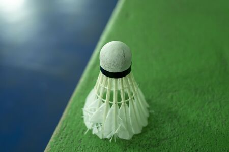 The Badminton ball , old condition