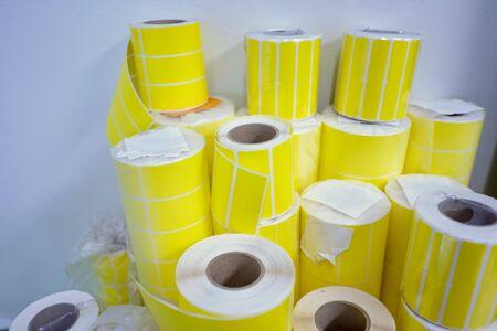 The Printer sticker a yellow 版權商用圖片