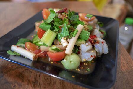 Papaya salad , Thai food is delicious and spicy